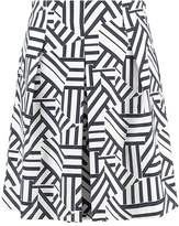Benetton Pleated skirt white