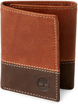 Timberland Tan Two-Tone Trifold Wallet