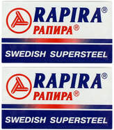 Swedish Supersteel Double Edge Blades by Rapira (10 Blades)