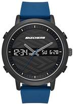 Skechers Men's Quartz Metal and Silicone Casual Watch, Color:Blue (Model: SR5072)