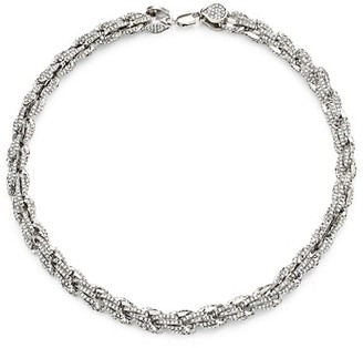 Fallon Armure Silvertone & Pave Rope Chain Necklace