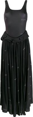 Natasha Zinko Printed Swimsuit Maxi Dress
