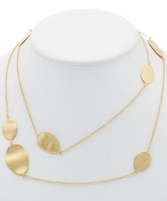 Rivka Friedman 18K Gold Clad Satin Wavy Oval Station Necklace