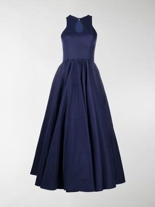 Alaia Scoop Neck Flared Dress