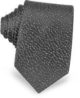 Lanvin Geometric Woven Twill Silk Narrow Tie