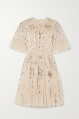Needle & Thread Jasmine Hemsley Ether Embellished Tulle Mini Dress - Ivory
