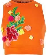 River Island Girls orange RI studio scuba vest top