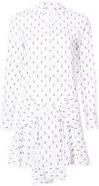 Derek Lam 10 Crosby Tie-Waist Shirtdress With Button Detail