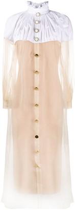 Colour-Block Shirt Dress