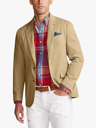 Ralph Lauren Polo Cotton Garment Dyed Blazer, Tan