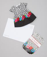 Dollie & Me Black Leopard Doll Dress & 'Purrfect' Greeting Card - Girls