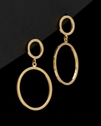 Italian Gold 14K Graduated Circles Drop Earrings