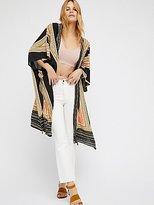 Free People Boogie Nights Geo Printed Kimono