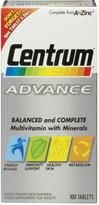 Centrum Advance Multivitamin Tablets - (60 Tablets)