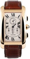 Cartier Tank Americaine White Yellow gold Watches