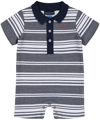 Andy & Evan Stripe Polo Romper