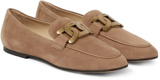 Tod's Kate suede loafers