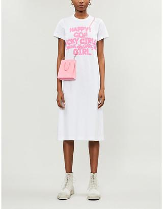 COMME DES GARÇONS GIRL Slogan-print cotton-jersey T-shirt dress