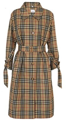 Burberry Vintage Check Recycled Polyester Car Coat