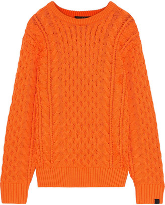 Rag & Bone Aran Cable-knit Merino Wool-blend Sweater