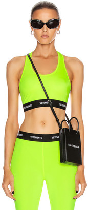 Vetements Sports Bra Top in Fluo Yellow | FWRD