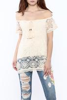 Jella Couture Beige Off-Shoulder Tunic