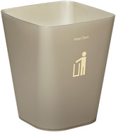 Container Store Square Keep Clean Wastebasket Smoke