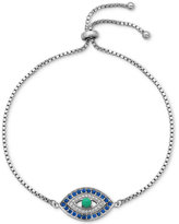 Giani Bernini Cubic Zirconia Evil Eye Adjustable Bracelet in Sterling Silver or 18k Yellow or Rose Gold-Plated Sterling Silver, Only at Macy's