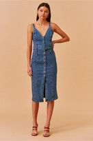 Finders Keepers COCO MIDI DRESS washed blue