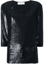 IRO boat neck sequined blouse