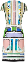 Mary Katrantzou Mulicolored Printed Silk Heavy Crepe Sorbonne Dress