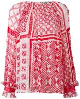 Fendi geometric print blouse