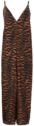 The Upside Anya Tiger-print Cotton And Silk-blend Mousseline Jumpsuit