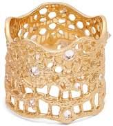 AURÉLIE BIDERMANN FINE JEWELLERY Diamond, aquamarine & yellow-gold ring