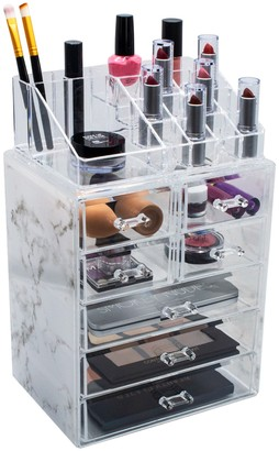 Sorbus Cosmetic & Makeup Storage Case - Gray Marble