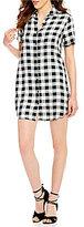 BB Dakota Alexia Button-Down Collar Short Sleeve Shirt Dress