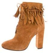 Aquazzura Woodstock Fringe Ankle Boots
