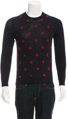 Gucci 2018 Patterned Wool Crewneck Sweater