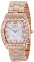 Invicta Women's 14529 Angel White Dial 18K Rose Gold Ion-Plated Stainless Steel Watch