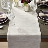 "Crate & Barrel Grasscloth 90"" White Table Runner"