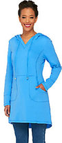 Denim & Co. As Is Active Regular French Terry Tunic with Hood