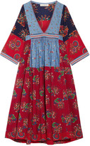 Ulla Johnson Milena Embroidered Patchwork Cotton And Linen-blend Dress - US2