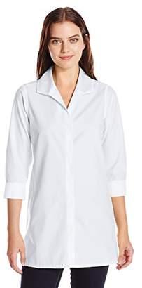 Foxcroft Women's Plus Size 3/4 Sleeve Skye Essential Non Iron Tunic