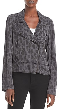 Blank NYC Leopard Print Moto Jacket