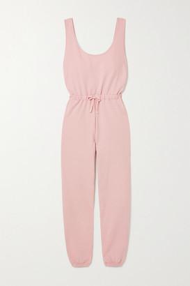 Ninety Percent Net Sustain Brushed Organic Cotton-jersey Jumpsuit - Pink