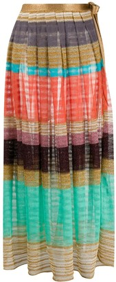 Missoni Mare Striped Knitted Maxi Skirt