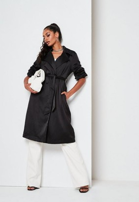 Missguided Satin Belted Duster Jacket