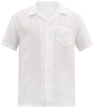 120% Lino Cuban-collar Linen Shirt - Mens - White
