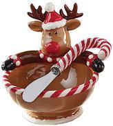 Mud Pie Holiday Reindeer Dip Bowl Set