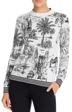 Marella Reversible Printed Sweater